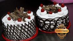 Nice Black Forest Cake Decoration within Amazing Christmas Cakes! Cake Decorating Frosting, Cake Decorating Designs, Creative Cake Decorating, Cake Decorating Videos, Birthday Cake Decorating, Creative Cakes, Decorating Ideas, Chocolate Cake Designs, Chocolate Diy