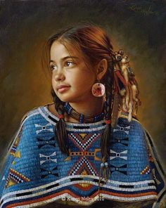 ☆ The Girl With The Pink Earrings :¦: By Artist Karen Noles ☆
