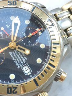 Rare Titanium Rose Gold Tantalum Omega Seamaster Professional 300m Diver Chronograph   Vintage Portfolio Omega Seamaster Professional, Vintage Omega, 18k Rose Gold, Rolex Watches