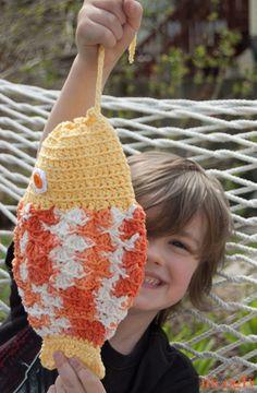 Mystery Fish Pouch! Free crochet pattern on Moogly :)