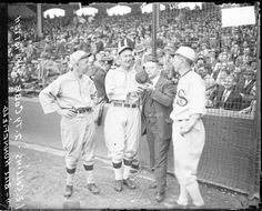 My grandfather, Hal Totten, with Ty Cobb.  Grandpa Hal was the original sportscaster for the Cubs and the White Sox