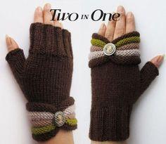 – Fingerless Knitted Handwarmer, Fingerless Gloves – a unique product by GlovesAndMittens on DaWanda Gilet Crochet, Crochet Gloves Pattern, Knitting Patterns, Knit Crochet, Crochet Hats, Knitting Tutorials, Hat Patterns, Fingerless Gloves Knitted, Knit Mittens