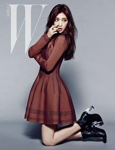 Park Shin Hye's Classy Autumn Style For W Korea's September 2014 Issue