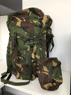 NEW Army Issue MTP Short Back Bergan Rucksack AND Water Canteen Carrier