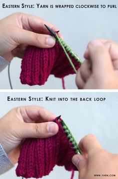 Webs Yarn Store Blog » Blog Archive » Tuesday's Knitting Tip – Keeping Even Tension in Ribbing Remember to look at this later.