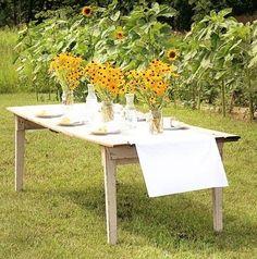 Black Eyed Susan's Wedding Reception Tablescape (View #3)