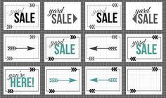 Yard Sale Sign Free Printable.