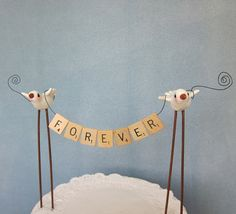Scrabble cake topper // love this.