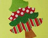 Fabric Applique TEMPLATE PATTERN ONLY Four Tier Christmas Tree....New