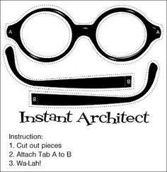 Download paper Harry Potter glasses