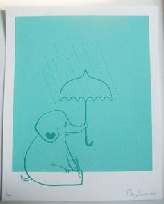 Items similar to Elephant Screenprint on Etsy Collage Illustration, Illustrations, Animal Magic, Silk Screen Printing, Printmaking, Art For Kids, Lino Prints, Screenprinting, Elephants