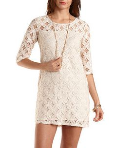 All-Over Lace Shift Dress: Charlotte Russe