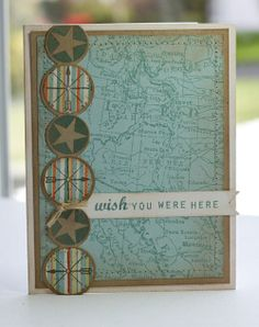 Like how Lisa used the Simply Circles border die with the stamps from Road Trip!
