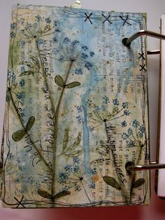 wendy vecchi. art journal page - love the toned down colors - simple yet artful
