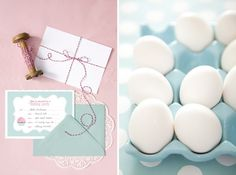 invitations wrapped in yarn