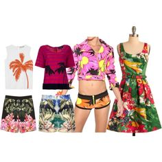 Tropical palm tree outfit inspiration post:     http://www.aprilgolightly.com/2012/02/tropical-outfit-inspiration/