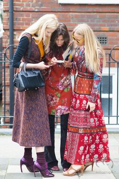Candice Lake-Hedvig Opshaug-Martha Ward | fashion friends | patterns and prints | street style | printed