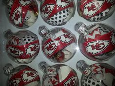 Kansas City Chiefs Ornament.  I could make these.