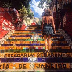Escadaria Selarón in Brazil, Rio