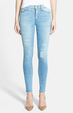Hudson Jeans 'Nico' Distressed Skinny Stretch Jeans (Buzzworthy) available at #Nordstrom