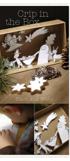 Nativity in a box #christmasactivityforkids #advent #Christmas #KidsActivities