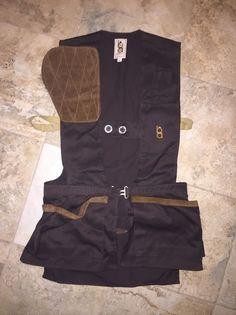 75f15d7223426 Details about Vtg Bob Allen Gun Club Hunting Skeet Shooting Khaki Vest  desert storm - XLarge