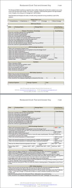 Restaurant Kitchen Management Forms new cumberland, pennsylvania - restaurant kitchen forms