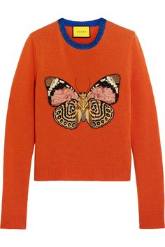 Gucci for NET-A-PORTER | Embellished wool sweater | NET-A-PORTER.COM