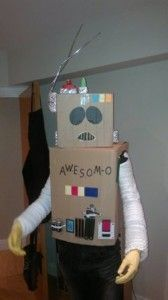 A homemade AWESOM-O costume from the hit TV series South Park, created by Cartman and one of the funniest characters ever. Funny Character, Homemade Costumes, South Park, Fancy Dress, Dresses, Whimsical Dress, Vestidos, Costume, Dress