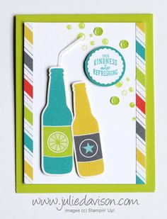 SNEAK PEEK Stampin' Up! Bubble Over Bundle ~ Bubbles & Fizz Designer Paper ~ 2018 Occasions Catalog & Sale-a-Bration ~ #GDP116 ~ www.juliedavison.com