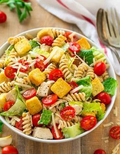 Caesar Pasta Salad Ways To Make The BEST Pasta Salad Easy Potluck . Bacon Pea Creamy Pasta Salad With Lemon Parmesan Dressing. Kale Caesar Salad With Creamy Parmesan Dressing Recipe . Home and Family Healthy Pasta Salad, Healthy Pasta Recipes, Healthy Pastas, Pasta Salad Recipes, Healthy Lunches, Pasta Food, Keto Recipes, Pasta Recipies, Lettuce Recipes