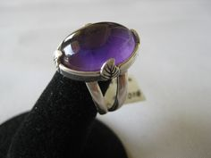 African Amethyst Cabochon Sterling Silver Ring Size No. Gems Jewelry, Metal Jewelry, Diamond Jewelry, Marcasite Jewelry, Sterling Silver Jewelry, Jewelry Insurance, Jewelry Auctions, Custom Wedding Rings, Best Jewelry Stores