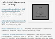 Professional ADHD Assessment Forms – No charge Canadian ADHD Practice Guidelines – ADHD Forms for clinicians from CADDRA – Rating scales for educators, children, adolescents, and … Adhd Assessment, Conduct Disorder, Dsm Iv, Oppositional Defiant Disorder, Rating Scale, Adhd Symptoms, Adult Adhd, Adolescence, Wedding Ring