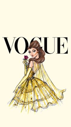 Disney Divas for Vogue by Hayden: Belle Cute Wallpaper For Phone, Wallpaper Iphone Disney, Cute Wallpaper Backgrounds, Tumblr Wallpaper, Cute Wallpapers, Vintage Backgrounds, Iphone Backgrounds, Wallpaper Ideas, Wallpaper Quotes
