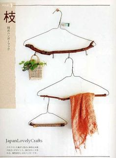 Upcycled hangers.                                                Gloucestershire Resource Centre http://www.grcltd.org/scrapstore/