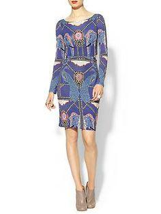 Mara Hoffman Side Cutout Dress in caravan midnight