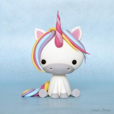 Cute Unicorn  fondant tutorial.                                                                                                                                                                                 More
