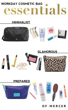 An arsenal of cosmetic essentials is a definite must for the workingwoman that clocks in from dawn 'til dusk. Work Bag Essentials, Amazon Purchases, What In My Bag, Laptop Tote, Little Black Books, Work Bags, Everyday Bag, Bag Organization, Work Clothes