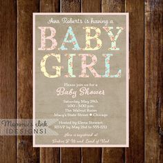 Baby Shower Invitation Baby Shower Invite Cottage by MommiesInk