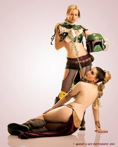 The Sexiest Cosplay — cosplay-booties: Leia and Boba Fett (Lady Jaded)