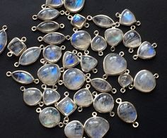 10 Pcs Rainbow Moonstone Mix Shape Connectors by gemsforjewels