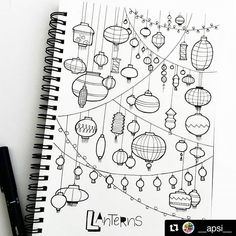 Reposting some 2015 stuff from my personal page @__apsi__ ・・・ Lantern doodles . . . . . .  #abc #alphabet #handlettering  #lettering #typography  #typographyart  #doodle #doodleaday #illustration #drawing #instaart #art #artist  #love #instalove #artjournal #black #white #blackandwhite #monochrome #practice #practicemakesperfect #abcs_alphabet