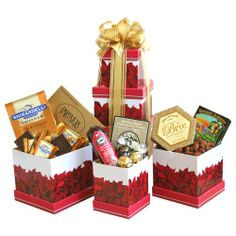 California Delicious Wonderland Gift Tower - http://mygourmetgifts.com/california-delicious-wonderland-gift-tower/