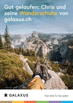 Gut gelaufen: Chris und seine Wanderschuhe von Galaxus #GalaxusLive #Werbung #Anzeige #Plakat #Inserat #Galaxus Grand Canyon, Hiking Boots, Live, Nature, Travel, Advertising Campaign, Hiking Shoes, Hiking, Advertising