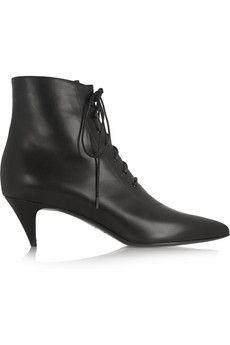 Saint Laurent Leather ankle boots | NET-A-PORTER #saintlaurent  #heartsinariot