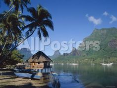 Cook's Bay, Moorea, French Polynesia, South Pacific, Tahiti by Christopher Talbot Frank Landscapes Photographic Print - 61 x 46 cm
