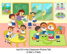 Play School Material For picture talk by MyKidsArena Buy online India I School, School Classroom, Play School Toys, Picture Story For Kids, Picture Comprehension, Writing Images, Classroom Pictures, Short Stories For Kids, Report Writing
