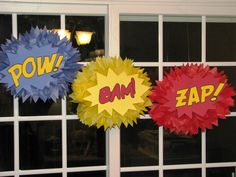 Superhero Classroom Decorations New Superhero Tissue Paper Pompom Kit Pow Bam Zap Set Of Three Batman Birthday, Batman Party, Superhero Birthday Party, Birthday Parties, 4th Birthday, Birthday Ideas, Superhero School, Superhero Classroom Theme, Classroom Themes