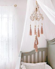 Nursery Mobiles, Nursery Room, Girl Nursery, Interior Wallpaper, Kidsroom, Cribs, Room Decor, Colours, Interior Design