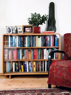 For us this bookcase would have to be longer, much longer, but I love the height.